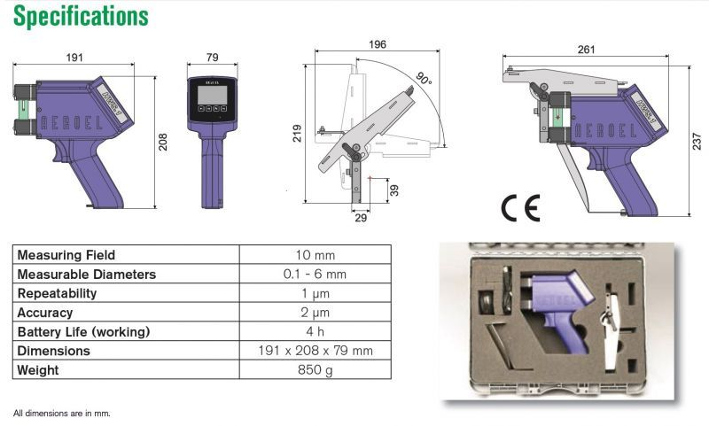 Portable Micrometer Specifications
